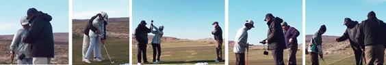 ゴルフ留学の様子
